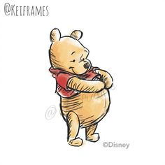 Winnie The Pooh. Here he is full body in an inky style I worked up for a guide in work. Winnie the Pooh Winnie The Pooh Pictures, Cute Winnie The Pooh, Winne The Pooh, Winnie The Pooh Quotes, Winnie The Pooh Friends, Eeyore Quotes, Whinnie The Pooh Drawings, Winnie The Pooh Tattoos, Bear Drawing