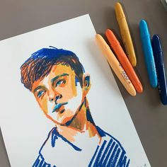 47 Closeup Doodles With Crayon Ideas - Art Art Sketches, Art Drawings, Illustrations, Illustration Art, Oil Pastel Art, Arte Sketchbook, Poses References, Sketchbook Inspiration, Aesthetic Art