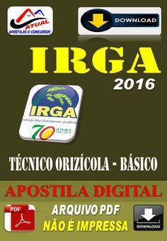 Apostila Digital Concurso IRGA RS Tecnico Orizicola 2016