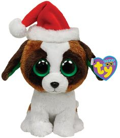 Amazon.com: Ty Beanie Boos Presents - Dog with Hat: Toys & Games