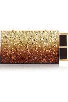 Tom Ford Lipstick glitter-finished Plexiglas® clutch | NET-A-PORTER