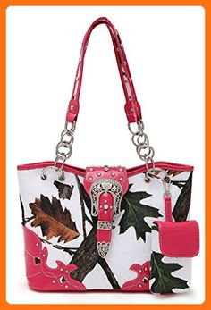 LCOLETTE Western Cowgirl Fall Leaves Belt Clip Tote Bag With Smartphone Holder WML5166B (Fuchsia) - Totes (*Amazon Partner-Link)