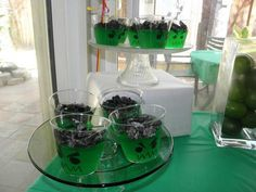 HULK inspired jello & oreo cookies treat