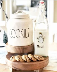 """Love this farmhouse kitchen cookie canister - and the """"melt"""" milk jug is adorable!"""