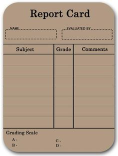 printable report cards