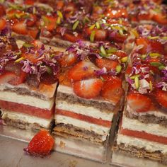 Gluten-free Strawberry Watermelon Cake with Rose Scented Cream | Black Star Pastry, Rosebery, Sydney