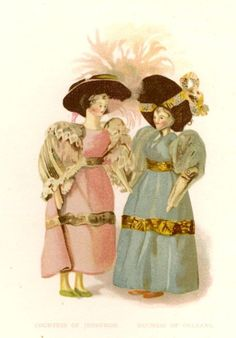 Queen Victoria's Dolls - by F. Low, Chromo -1894- COUNTESS OF JEDBURGH & ORLEANS #Vintage, $29.99