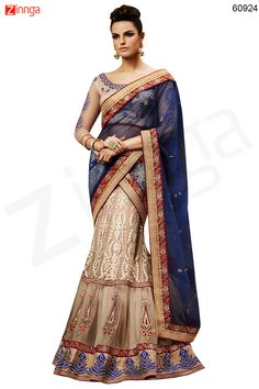 Women's Net Fabric & Brown Color Pretty Fish cut Lehenga Style Message/call/WhatsApp at +91-9246261661