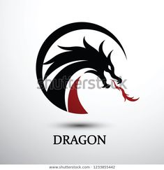 Chinese Dragon Silhouette Flat Color Logo Stock Vector (Royalty Free) 1233855442 Dragon Silhouette, Logo Design, Design Vector, Dragon Pictures, Dragon Boat, Blue Back, Mystery, Chinese Dragon, Flat Color