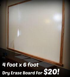 HUGE DIY dry erase board for $20