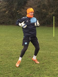 Who said you've got to be mad to be a keeper? Alex Lynch looks pretty normal here!