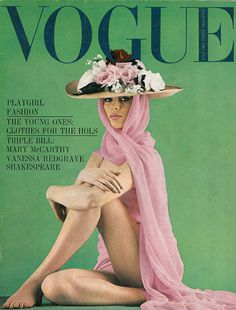 British Vogue,cover photo by Ronald Traeger.July 1964.