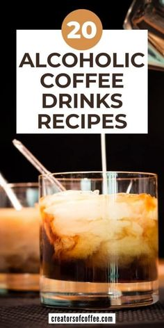 Turn your coffee into something special with the best alcoholic coffee drinks recipes. From iced coffee drinks with alcohol to the best coffee cocktail recipes and hot coffee drinks with alcohol, you are sure to find a new favorite in our list Alcoholic Coffee Drinks, Healthy Coffee Drinks, Cold Coffee Drinks, Coffee Drink Recipes, Espresso Drinks, Alcohol Drink Recipes, Iced Coffee, Hot Coffee, Coffee Cocktails