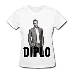 2017 Summer Harajuku Punk Funny Women's Diplo Edm T-Shirt- White For Women Unicorn Brand Clothing