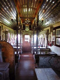 This is a restaurant, but this is how I envision my converted bus/vardo hybrid of awesome.