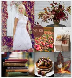 Mood Board #60: Autumn Aflame (fall wedding, #fall inspiration board, red, gold, pink)