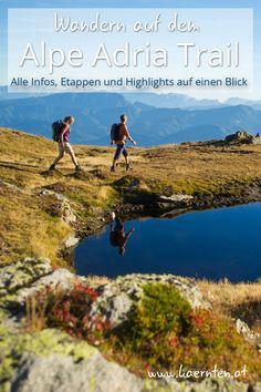 Kennst du schon den Alpe Adria Trail? Sicherlich einer der schönsten Weitwanderwege der von Österreich über Slowenien nach Italien ans Meer führt. #alpeadriatrail #wandern #urlaubinösterreich #kärnten #wanderroute #wanderstrecke Am Meer, Trail, Mountains, Nature, Slovenia, Italy, Loosing Weight, Traveling, Nature Illustration