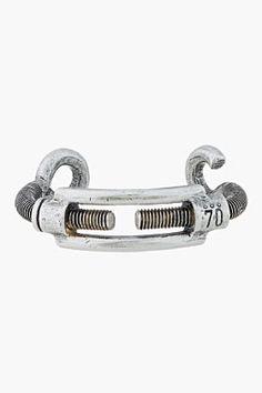 MAISON MARTIN MARGIELA Antiqued silver hardware bracelet