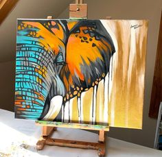 Wildlife Collection - Faith over Fear — Lauren Elizabeth Fine Art Wildlife Paintings, Animal Paintings, Indian Paintings, Art Paintings, Abstract Paintings, Elephant Art, Elephant Canvas Painting, Acrylic Painting Animals, Elephant Paintings