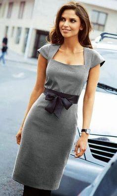vestido escote cuadrado y manga rodada