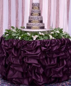 Romantic Gathered Table Skirt (available In Multiple Sizes And Colors) Wedding Event Party Tablecloth Bridal Shower. Romantic Wedding Receptions, Wedding Reception Decorations, Wedding Table, Wedding Events, Decor Wedding, Wedding Linens, Wedding Themes, Mascarade Party Decorations, Reception Food
