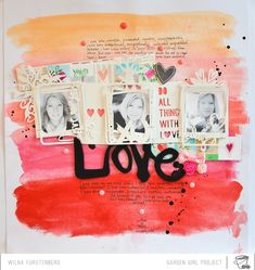 painted background + layers of die-cut cardstock. by wilna furstenberg.
