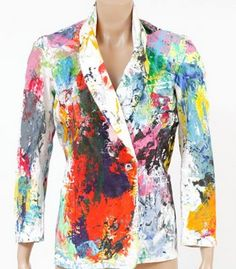 handpainted jacket by Karim Bonnet via outsapop