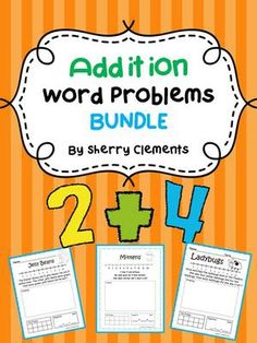 Addition Word Problems Bundle (K-2) from Dr. Clements' Kindergarten on TeachersNotebook.com -  (166 pages)  - Addition Word Problems Bundle (K-2) - Solve word problems by drawing, using a number line, ten frame, and equation. Great for math centers!