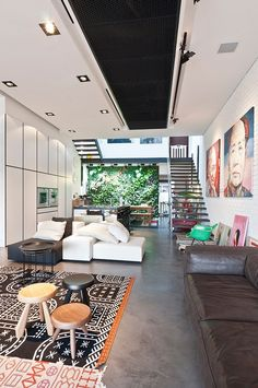 Terrace House in Singapore by Architology | Fiberglass Rocker Arm Chair | http://modernica.net/rocker-arm-shell.html