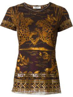 Shoppen Valentino T-Shirt mit Jaguar-Print von Stefania Mode aus den weltbesten Boutiquen bei farfetch.com/de. In 400 Boutiquen an einer Adresse shoppen.
