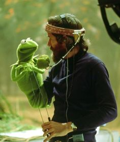 kermit with Jim Henson.. I know Kermit misses his old friend.