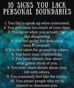 Personal boundaries Are you in a toxic or codependent relationship? Personal boundaries are the mental, emotional, and physical walls we create to protect ourselves from being used, manipulated, or violated by others. Boundaries Quotes, Personal Boundaries, Personal Qualities, Affirmations, Setting Boundaries, Narcissistic Abuse, Psychology Facts, Health Psychology, Healthy Relationships