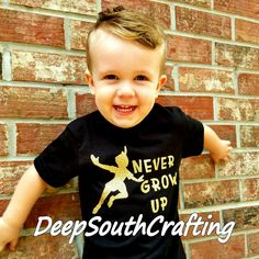 Peterpan Disney The Lost Boys Pirates toddler black shirt gold glitter silhouette iron-on. Handmade by deepsouthcrafting top quality products great for birthday theme parties or cool funny toddler shirts! Get creative!
