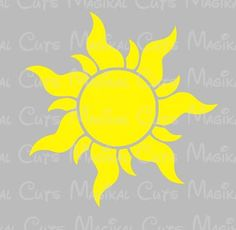 Tangled Sun SVG, Studio, EPS, and JPEG Digital Downloads