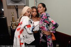 What beauties! Teyana Taylor posed alongside Tracee Ellis Ross for the bash