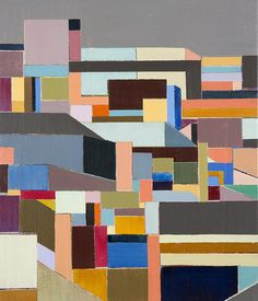 """Abstraction of the cityscabe, New York, 2014 """" Correctons # 5 """""""
