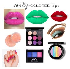 """""""Untitled #4"""" by ariel-celeste-bohlender ❤ liked on Polyvore featuring beauty, Lime Crime, Glitter Pink, MAC Cosmetics and NYX"""