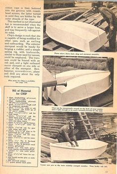 Chip Plywood Boat Plans, Wooden Boat Plans, Wooden Boats, Old Boats, Small Boats, Cap Horn, Garden Bench Plans, Free Boat Plans, Small Sailboats