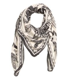 Check this out! Scarf in an airy printed weave. Size 130x130 cm. - Visit hm.com to see more.