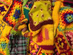 Colourful Imbolc yarnbombing for Market Rasen's Plank festival from www.frocktopus.blogspot.co.uk