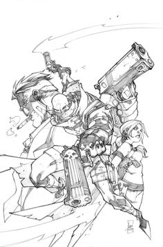Gun ghoul issue1 cover-pencil by LudoLullabi on DeviantArt