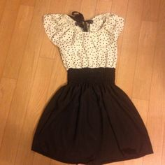 Black polka for dress! Worn once! Love this cute dress!!! Dresses