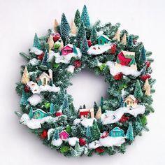 wreath + village