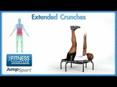 JumpSport Fitness Trampoline Workouts - Extended Crunches