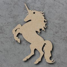 Wooden Unicorn Shapes made from 4mm thick mdf Perfect for any Magical and Mystical Craft Creation Smooth finish ready to paint and decorate Measurements from: 2cm to 40cm Anything larger please get in touch Sizes specified are based on the longest dimension As all of our Wooden Craft Blanks, mdf Shapes and Embellishments are laser cut they may have a slight brown edge mark which is easily painted or decorated over.