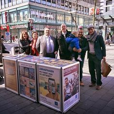 Public witnessing in Mannheim, Germany.