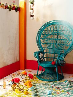 Reina Chair, think I need one of these for the apartment balcony with a sweet throw cushion