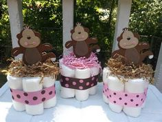 Detalle de imagen de:Baby Shower Decorations , Jungle Animal Centerpiece , Safari Baby ...