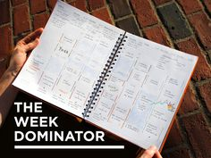 The Week Dominator: A beautiful canvas to tackle goals's video poster  #resolution #planner #paper