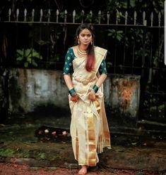 Kerala Bride, Soft Silk Sarees, Sari, Indian, Ethnic, Fashion, Saree, Moda, Fashion Styles